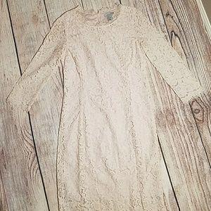 H&M Blush Lace Dress Size S